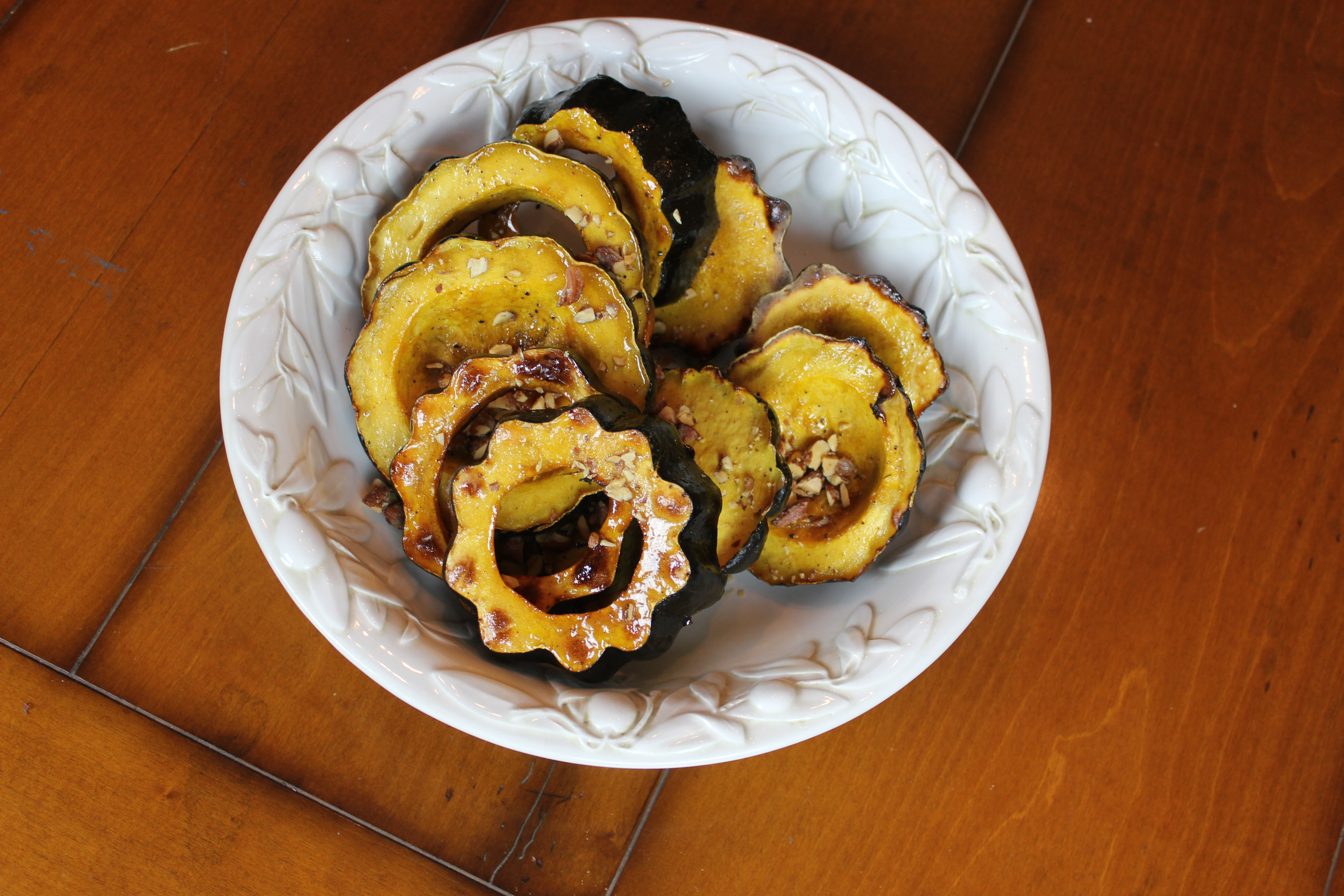 roasted acorn squash with for me acorn squash is a submitted by honey ...